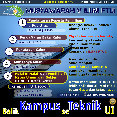 Schedule of Alumni Election Day