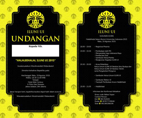 Sample Invitation: Yellow