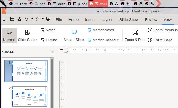 Impress Tabbed UI: Normal Slide View