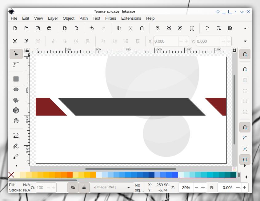 Auto Template: Inkscape: Single Slide: Cut