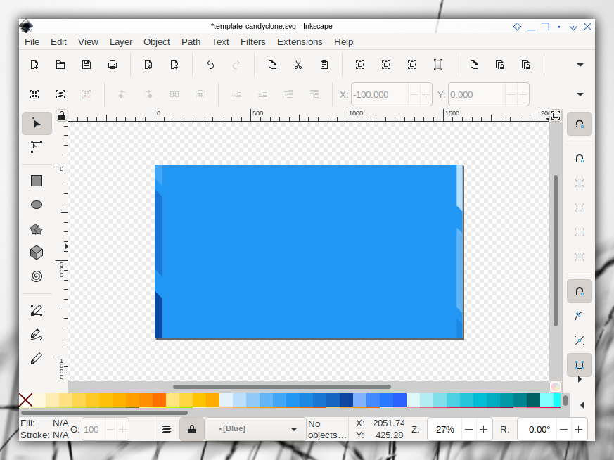 Candyclone Template: Inkscape: Alternate Slide: Cut
