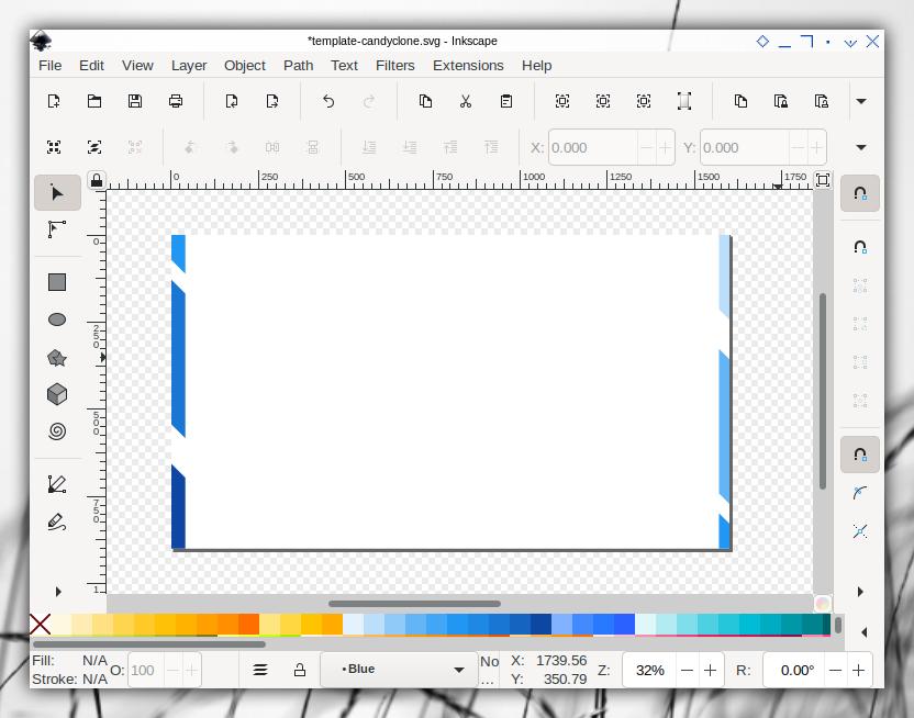 Candyclone Template: Inkscape: Default Slide: Cut