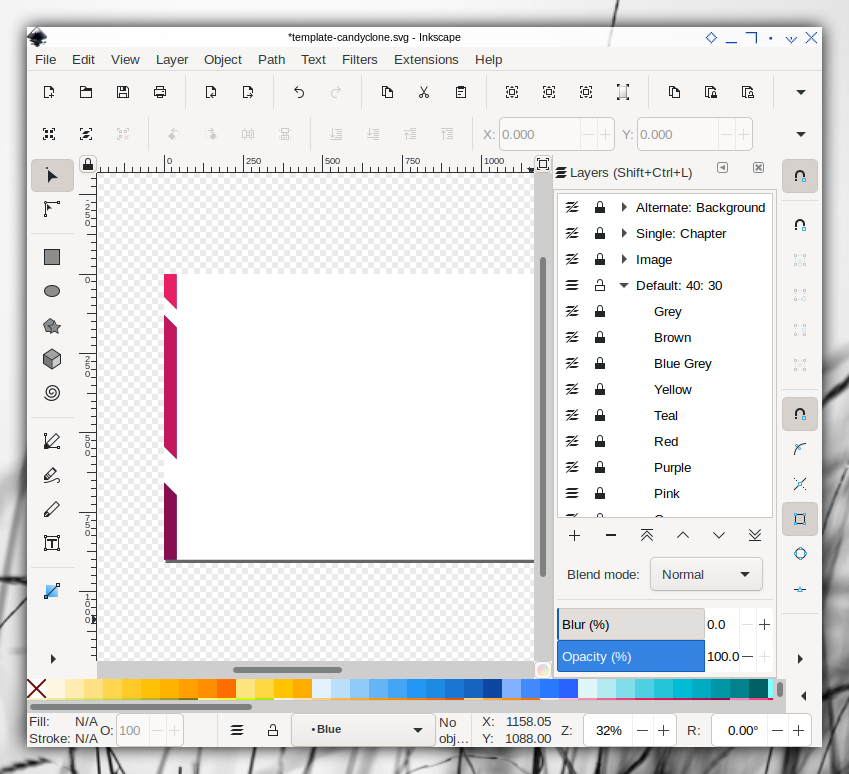 Candyclone Template: Inkscape: Default Slide: Layers