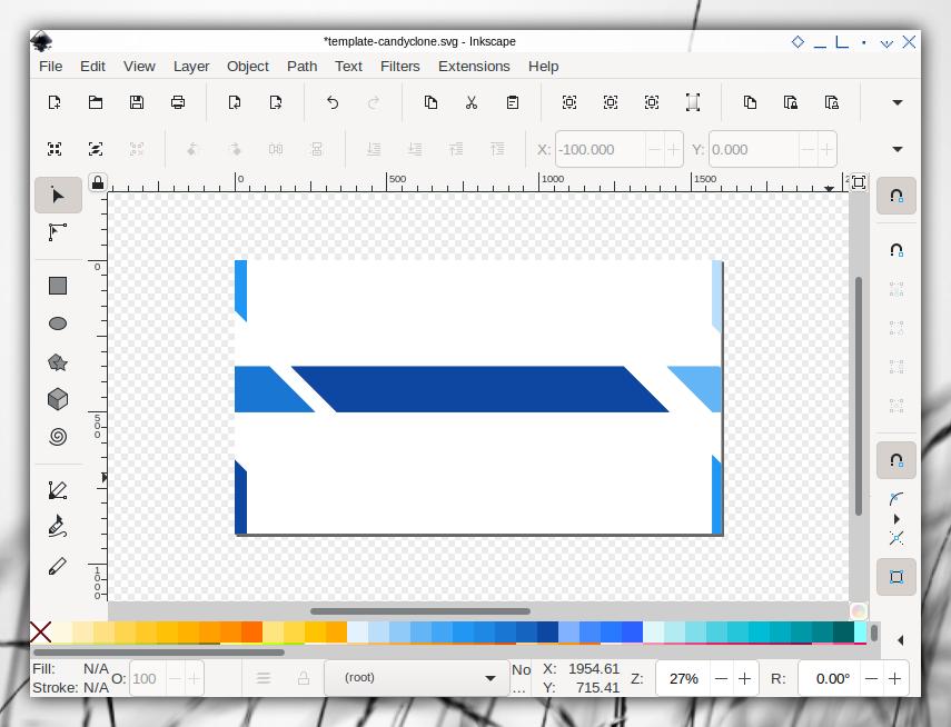 Candyclone Template: Inkscape: Single Slide: Cut