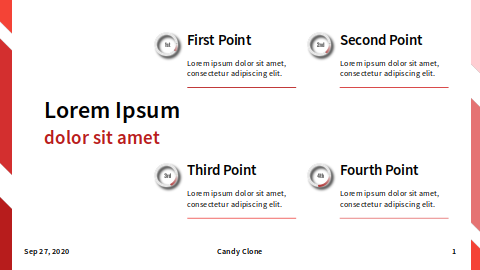 Points: Four Items: Small