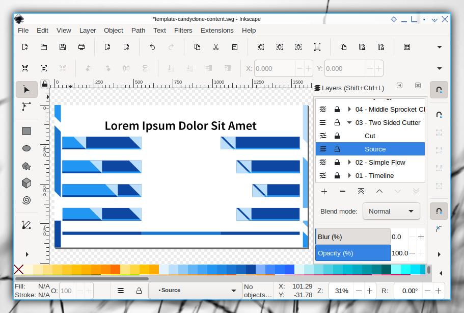 Content Illustration: Inkscape: Source Layer