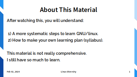Common Slide: About Material