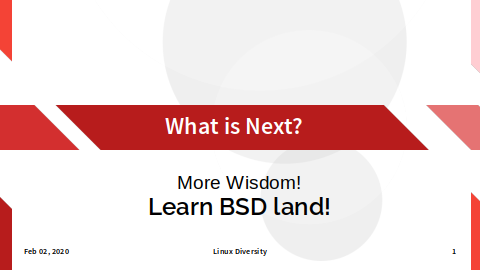 Common Slide: What's Next?