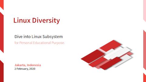 Slide Cover: Linux Diversity