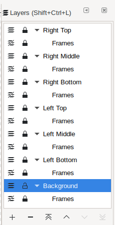 Lines Only: Frames SubLayers