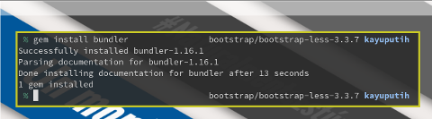 Ruby Gem: Install Bundler