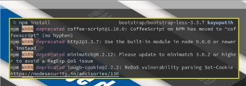 Node Module: npm install