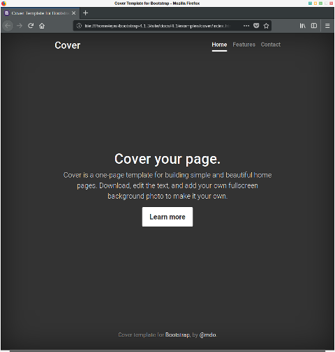Bootstrap: cover using localcopy
