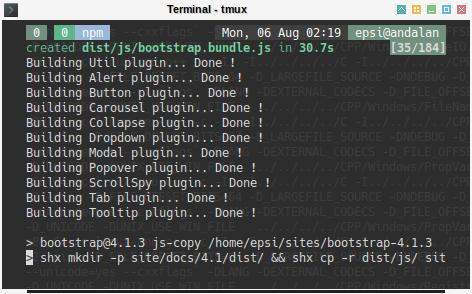 Bootstrap: npm run dist