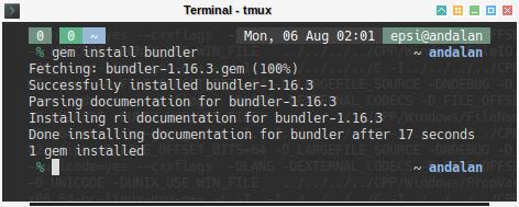Gem: gem install bundler