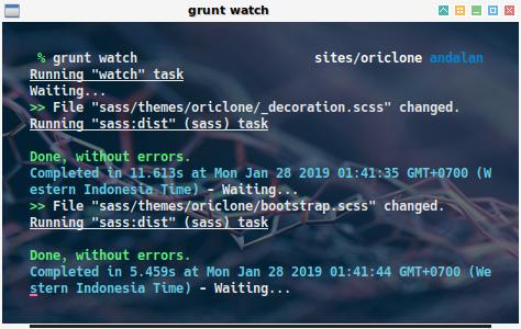grunt: watch in action