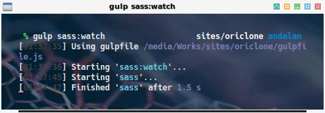 gulp: watch in action