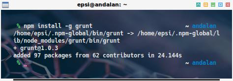 npm: install grunt