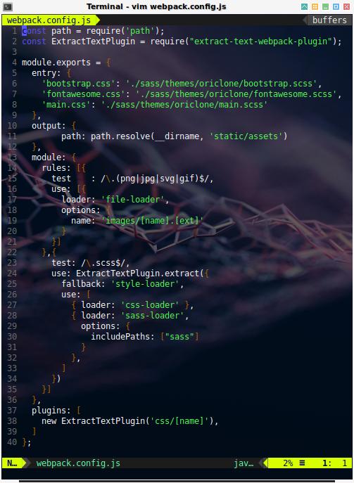 webpack: config webpack.config.js