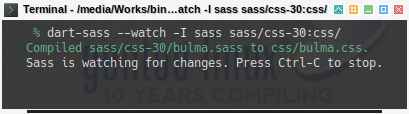 Bulma SASS: Compile