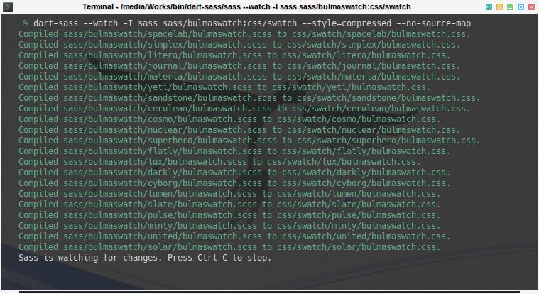 Bulma SASS: Compile Bulmaswatch