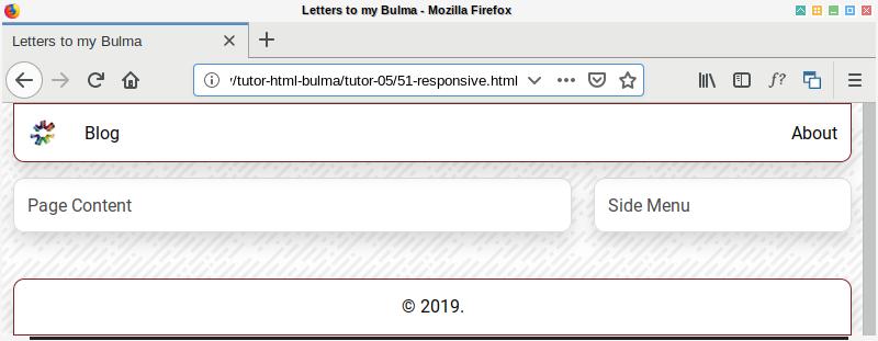 Bulma SASS: Layout Tablet