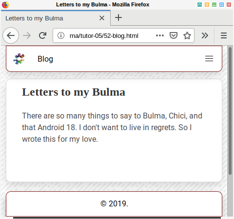 Bulma SASS: Blog Element