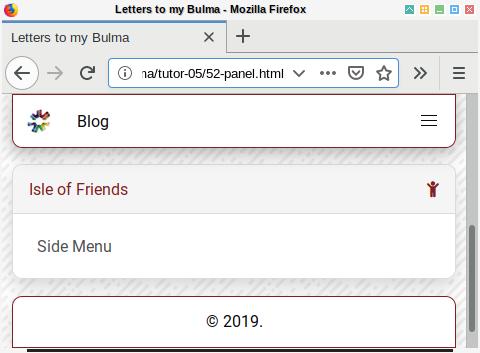 Bulma SASS: Blog Panel