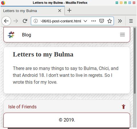 Bulma SASS: Post: Content