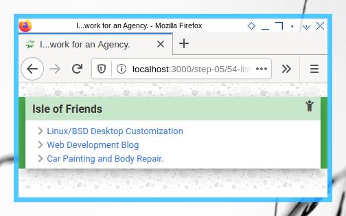 Bootstrap OC: List Widget Example