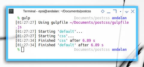 Gulp: running PostCSS