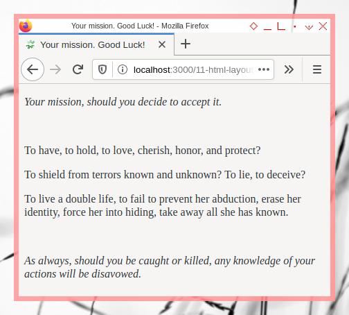 html: layout