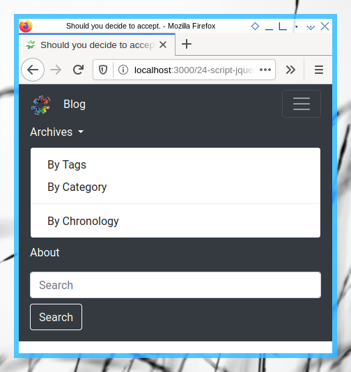 Bootstrap Navigation Bar: jQuery Dropdown Menu