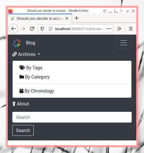 Bootstrap Navigation Bar: FontAwesome in Dropdown Menu