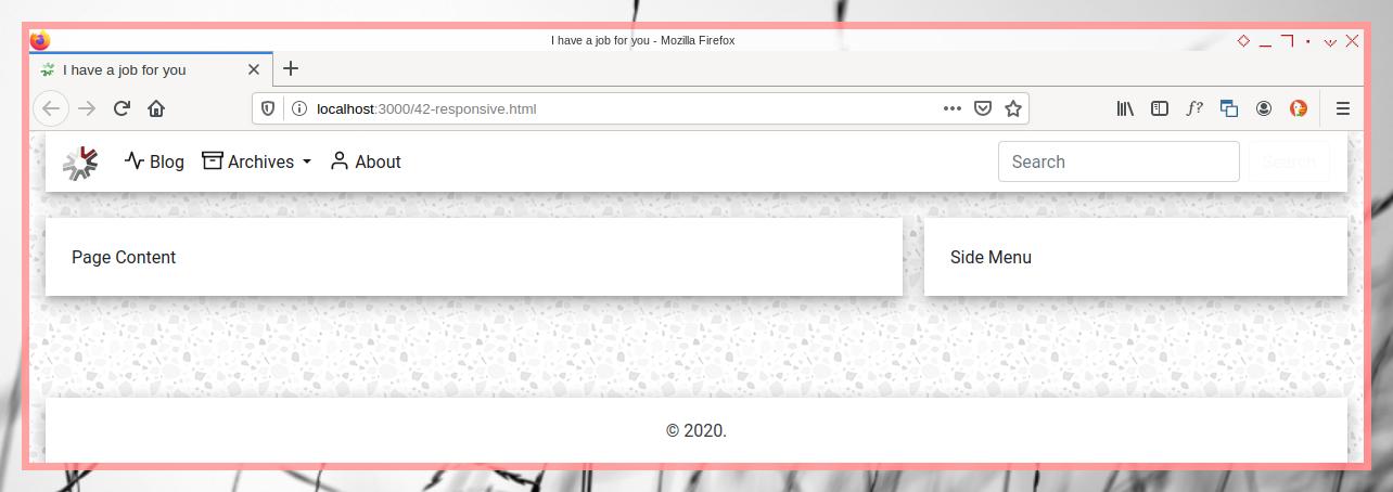 Bootstrap OC: Row Edge Margin on Wide Screen