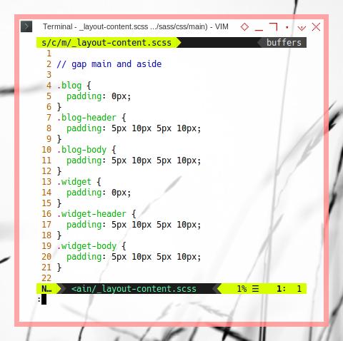 Bootstrap OC: Custom SASS for Widget