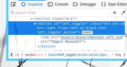 Bootstrap OC: Inspect Toggle Class