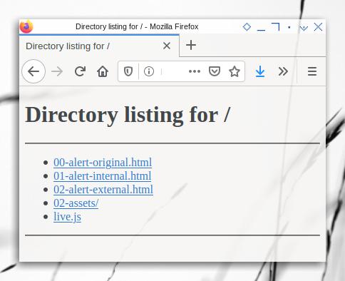 HTML Basic: Python Simple HTTP Server