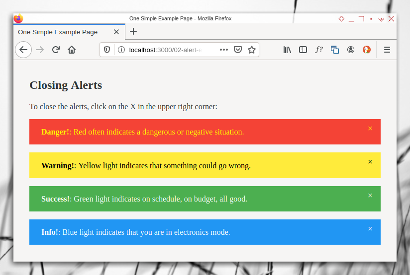 Browser: Result of the Color Change