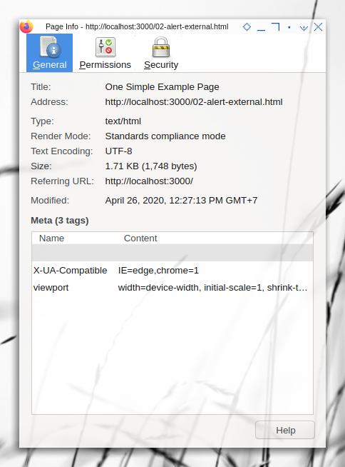 Browser Tools: Meta Header