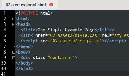 HTML Basic: Geany Editor: External