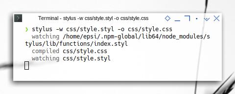 Stylus: Stylus Command Line