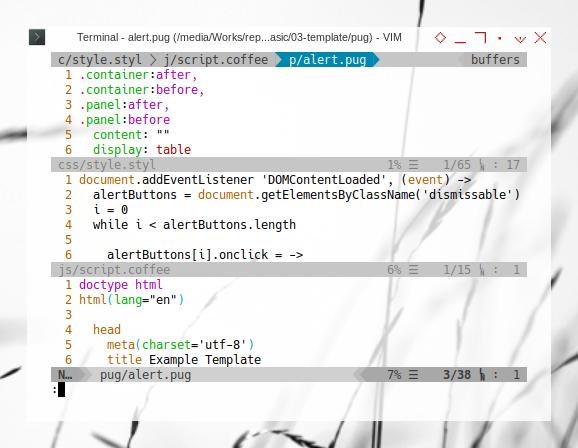 Grunt: Stylus + Coffeescript + Pug