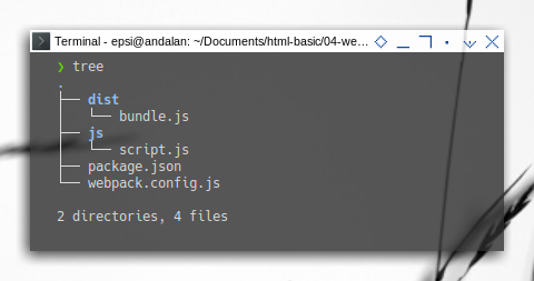 Webpack: Prepare: Directory Tree
