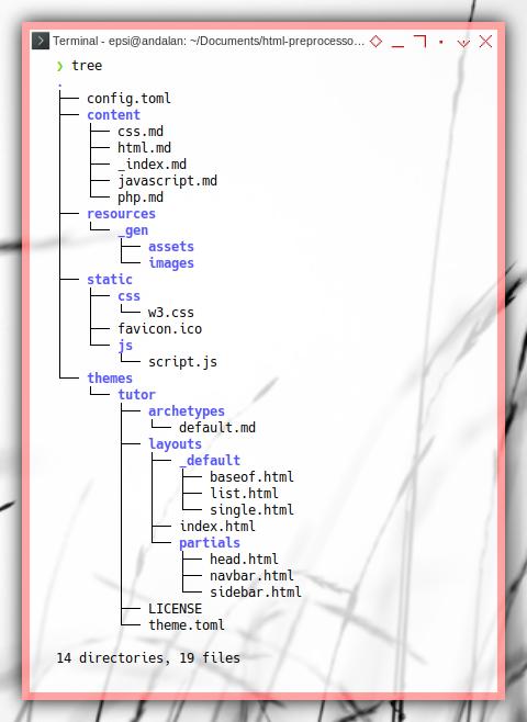 Hugo: Example: Tree