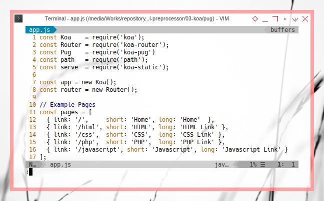 Koa: Configuration