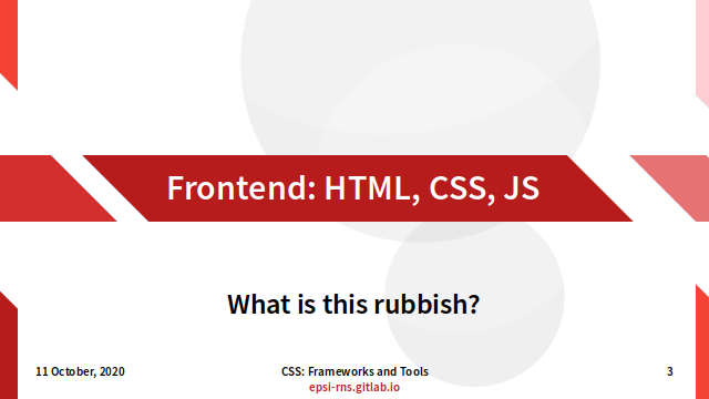 Slide - Preface: HTML+CSS+JS