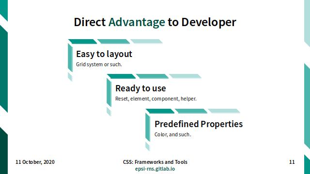 Slide - CSS Frameworks: Direct Advantage