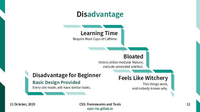 Slide - CSS Frameworks: Disadvantage