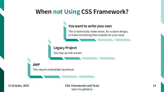 Slide - CSS Frameworks: When not Using